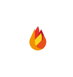 abstract fire flame logo vector image