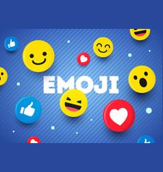 Abstract flat design modern emoji background vector