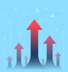 arrows up increase and success business vector image