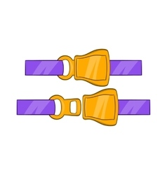 Aviation seat belt icon cartoon style vector image