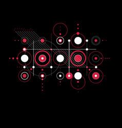 Bauhaus art composition red decorative modular vector