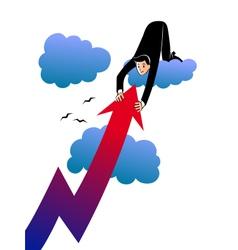 Businessman catching high profit vector image