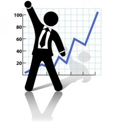 Businessman raises vector