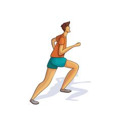 cartoon design of running man athletic guy vector image