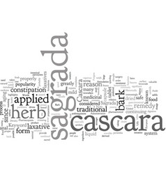 Cascara sagrada vector