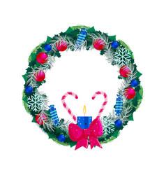 Christmas chaplet ornate isolated on white vector