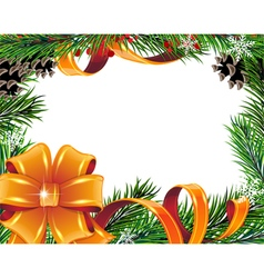 Christmas tree bow and ribbons vector