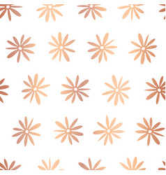 copper rose foil flower seamless pattern vector image