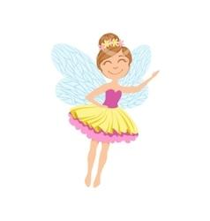 Cute Fairy In Layered Tutu Girly Cartoon Character vector