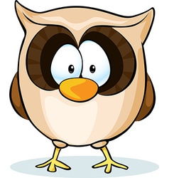 Cute owl - isolated on white background vector