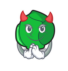 Devil brussels mascot cartoon style vector