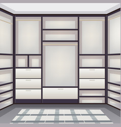Empty storage room realistic vector