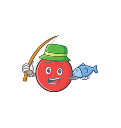 Fishing bowling ball character cartoon vector