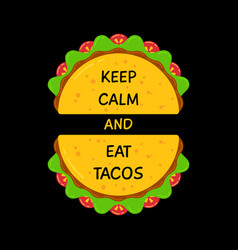 fresh flat tacos and motivation sign banner vector image