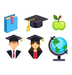 Graduation education symbols vector