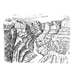 grand canyon in arizona united states graphic vector image