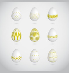 Green easter eggs vector
