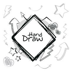 hand draw cartoons vector image