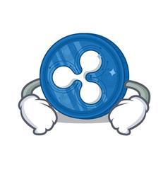 Hand on waist ripple coin character cartoon vector
