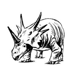 hand sketch of prehistoric animal vector image