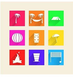 Icons for camping vector