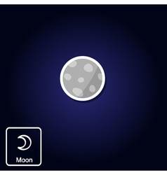 icons with Moon and astrology symbol of planet vector image