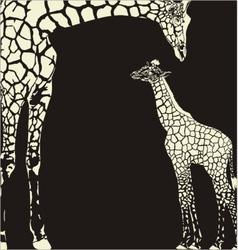 Inverse giraffe animal camouflage vector