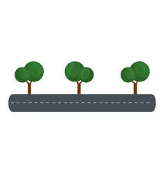 isolates trees on highway vector image