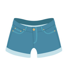 jeans shorts flat style front vector image