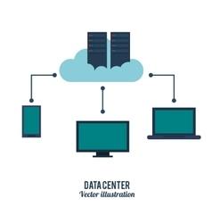 K icon Data center design graphic vector