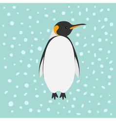 King Penguin Emperor Aptenodytes Patagonicus Snow vector