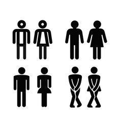 Lady and a man toilet sign vector