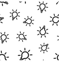 Light bulb electric lamp seamless pattern vector