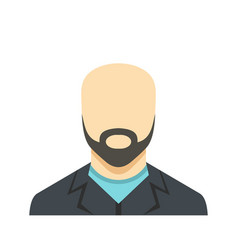 man avatar icon flat vector image