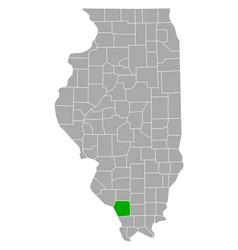 Map jackson in illinois vector