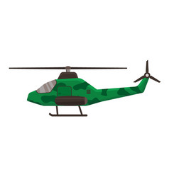 military helicopter icon isolated on white vector image