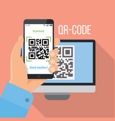 Mobile app for scanning qr-code vector