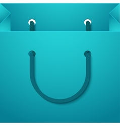 Modern shooping bag background vector