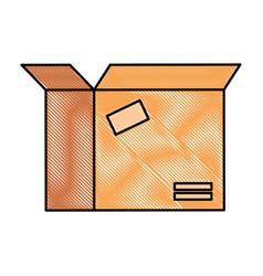 packing box carton icon vector image
