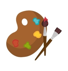 Paint pallette design vector