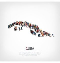 people map country Cuba vector image