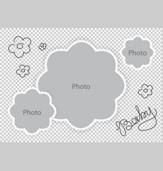 photo frames flowers template for sweet baby vector image