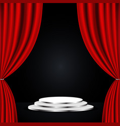 red theatre curtain vector image