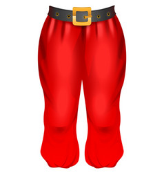Red trousers of santa traditional christmas vector