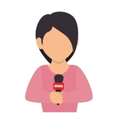 reporter women press vector image
