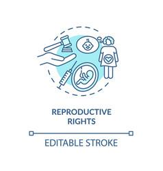 Reproductive rights concept icon vector