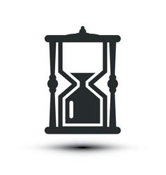 Sandclock icon hourglass symbol vector