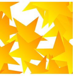 scattered orange stars seamless pattern vector image