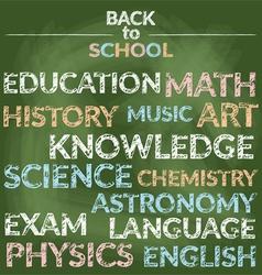 School education branch knowledge words vector