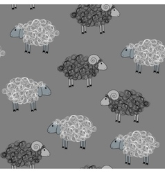 seamless pattern with sheeps vector image